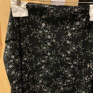 Black Floral Shawl